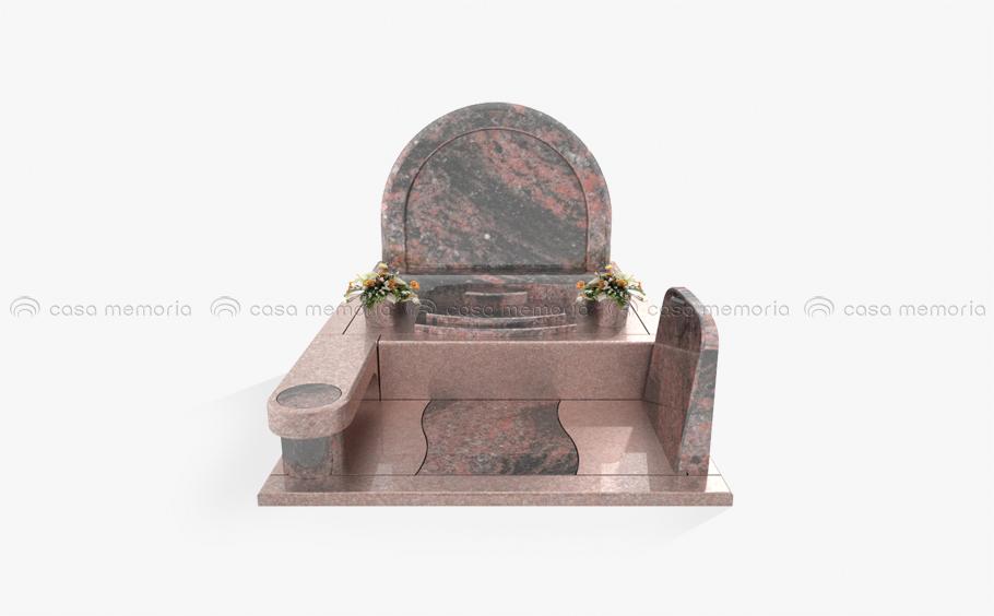 和のテイストをさりげなく取り入れた墓石