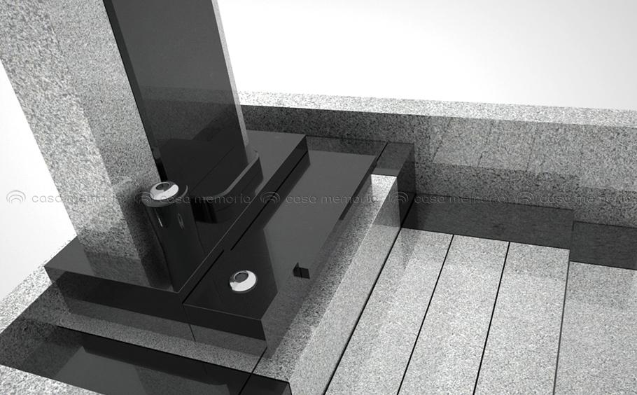 シャープなデザインの墓石