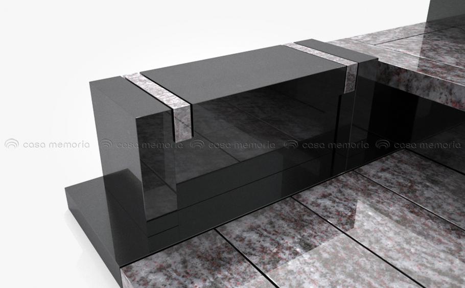 開放的なデザインの墓石