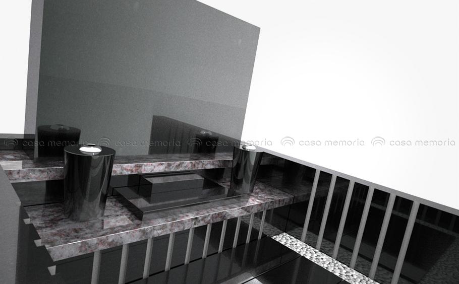 現代的な感覚が見事に調和した墓石